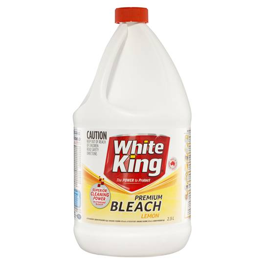 White King Premium Bleach Lemon