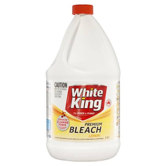 White King Premium Bleach Lemon