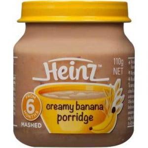 Heinz Smooth Food 6 Months Creamy Banana Porridge