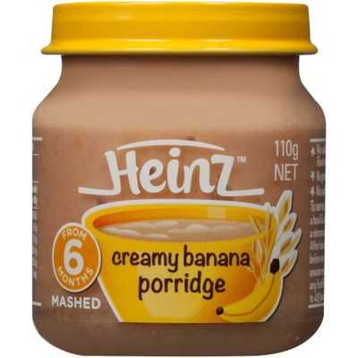 Heinz Smooth Food 6 Months Creamy Banana Porridge