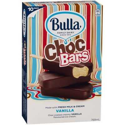 Bulla Ice Cream Bars Vanilla