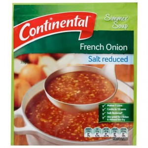Continental Simmer Soup Salt Reduced French Onion