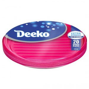Deeko Dinner Plates Plastic