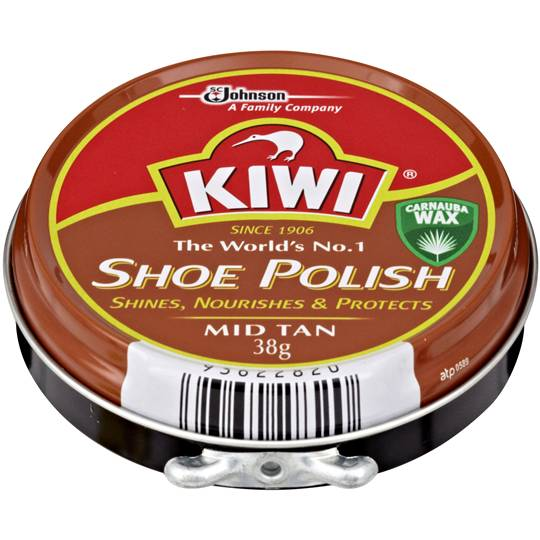 Kiwi Shoe Care Polish Mid Tan