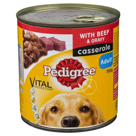 Pedigree Adult Dog Food Casserole Can Beef Gravy