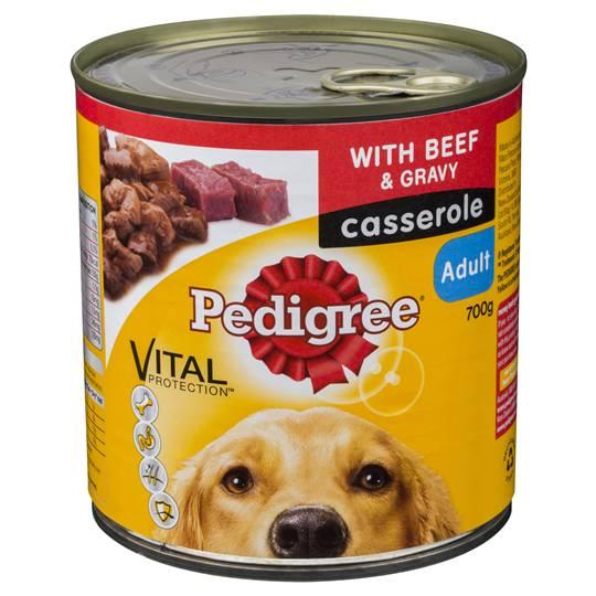 Pedigree Adult Dog Food Casserole Can Beef Gravy