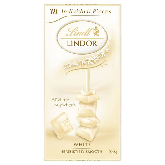 Lindt Lindor Chocolate Block White