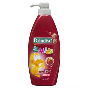 Palmolive Naturals Merry Strawberry 3 In 1 Kids Shampoo Conditioner & Body Wash