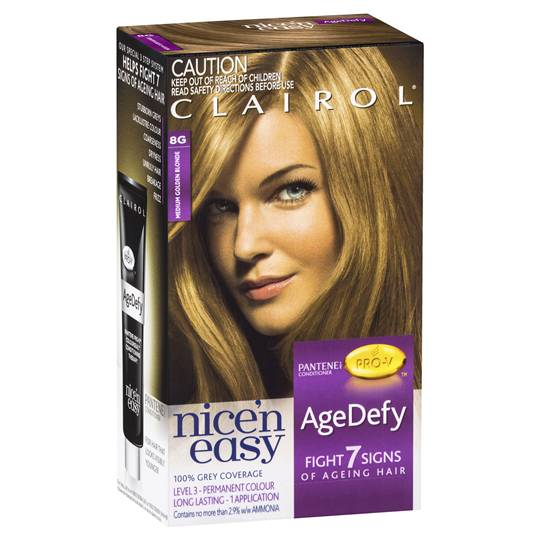 Clairol Nice'n Easy Age Defy-8g Med Golden Blonde