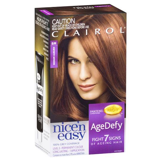 Clairol Nice N Easy Age Defy Permanent Hair 5r Medium Auburn