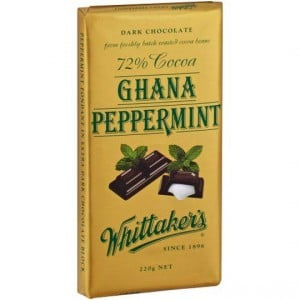 Whittakers Dark Chocolate 72% Cocoa Ghana Peppermint