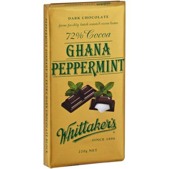 mom93821 reviewed Whittakers Dark Chocolate 72% Cocoa Ghana Peppermint