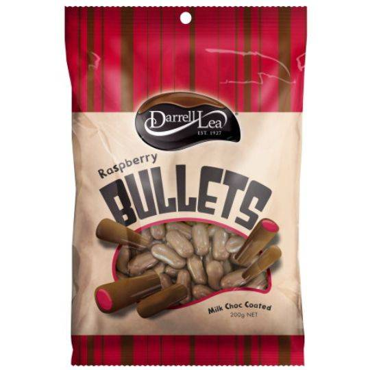 Darrell Lea Licorice Bullets Raspberry Milk Chocolate