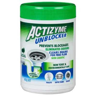 Actizyme Drain Cleaner Safe Pellet Natural