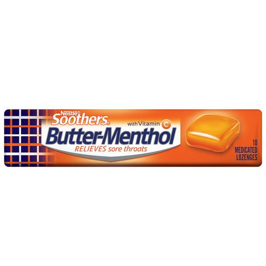 Allen's Butter-menthol Throat Lozenge Liquid Centre