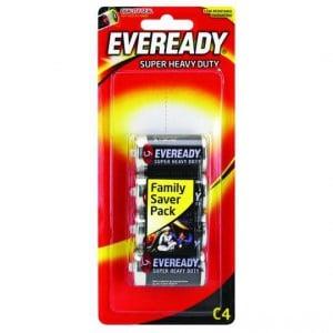 Eveready Super Heavy Duty Type C Batteries