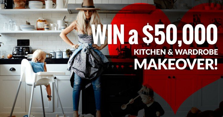 WIN a $50,000 Kitchen and Wardrobe makeover!