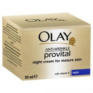 Olay Anti Wrinkle Provital Night Cream For Mature Skin