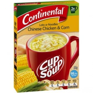 Continental Cup A Soup Lots-of-noodles Chinese Chicken & Corn