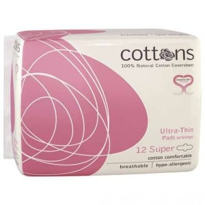 Cottons Ultra Thin Pads With Wings Super