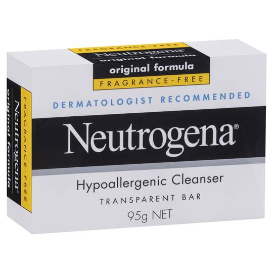 Neutrogena Facial Cleanser Hypoallergenic Bar
