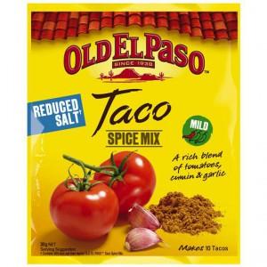 Old El Paso Taco Spice Mix Reduced Salt