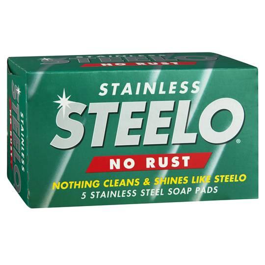 Steelo Scourer Steel Wool Pads Soap Stainless