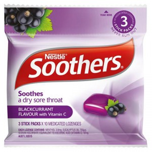 Soothers Throat Lozenges Blackcurrant
