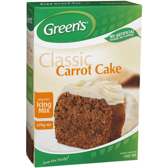 Greens Cake Mix Traditional Carrot