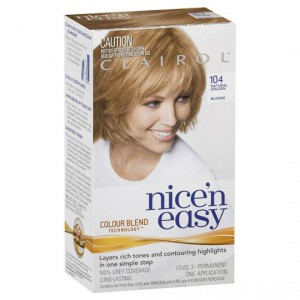 Clairol Nice N Easy Permanent Hair Color Kit 104 Natural Golden Blonde