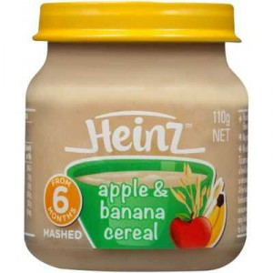 Heinz Pureed Food 6 Months Banana & Apple Cereal