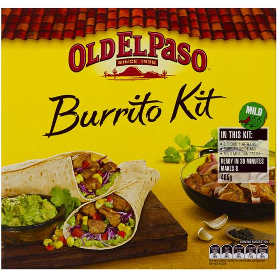 Old El Paso Dinner Kit Burrito