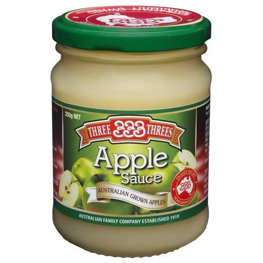 Three Threes Fruit Sauce Apple