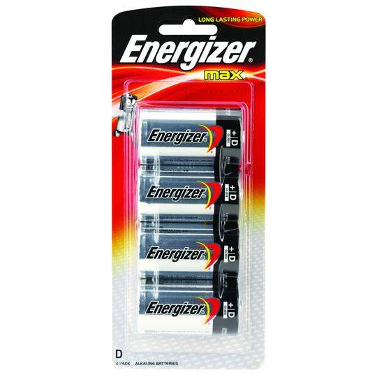 Energizer Max Type D Batteries