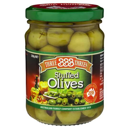Three Threes Olives Stuffed