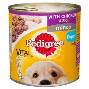 Pedigree Puppy Food Can Mince Chicken & Rice