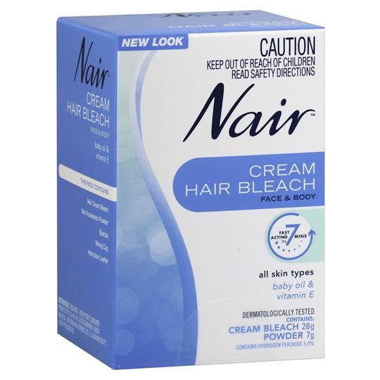 Nair Hair Removal Cream Bleach Face & Body