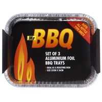 Mr Bbq Aluminium Tray Rectangle 32x26cm