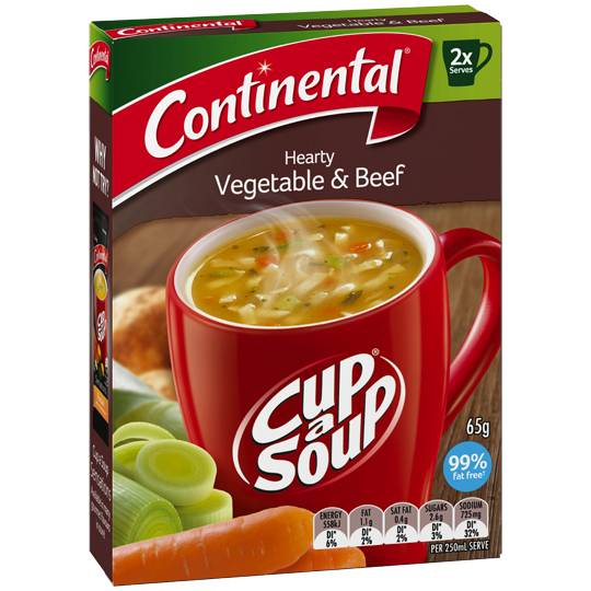 Continental Cup A Soup Instant Soup Hearty Vegetable & Beef