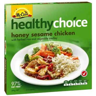 brees reviewed Mccain Healthy Choice Chicken Honey & Sesame