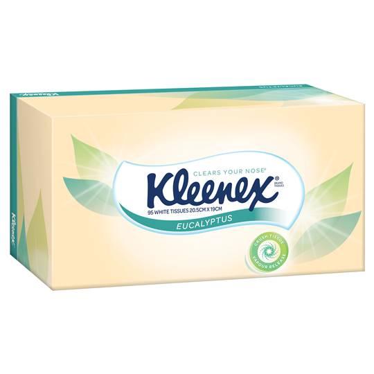 Kleenex Facial Tissues Extra Care Eucalyptus