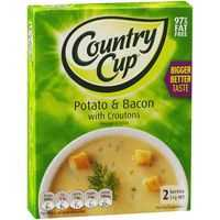 Country Cup Instant Soup Potato & Bacon With Croutons