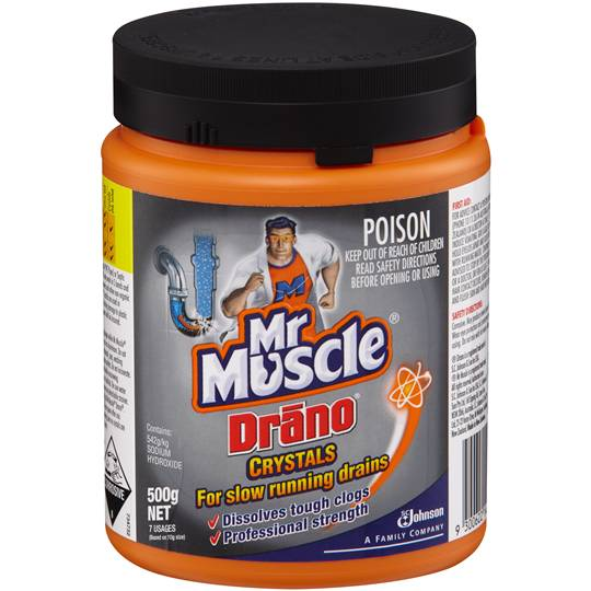 Mr Muscle Drano Drain Cleaner Crystals