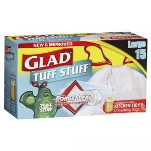 Glad Tuff Stuff Forceflex Drawstring Kitchen Bags Large