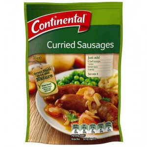 Continental Recipe Base Curried Sausages