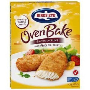 Birds Eye Oven Bake Potato Crumb Hoki Fish Fillets
