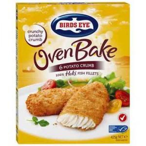 Birds Eye Oven Bake Potato Crumb Hoki Fish Fillets