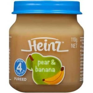 Heinz Strained Food 4 Months 100% Pear & Banana