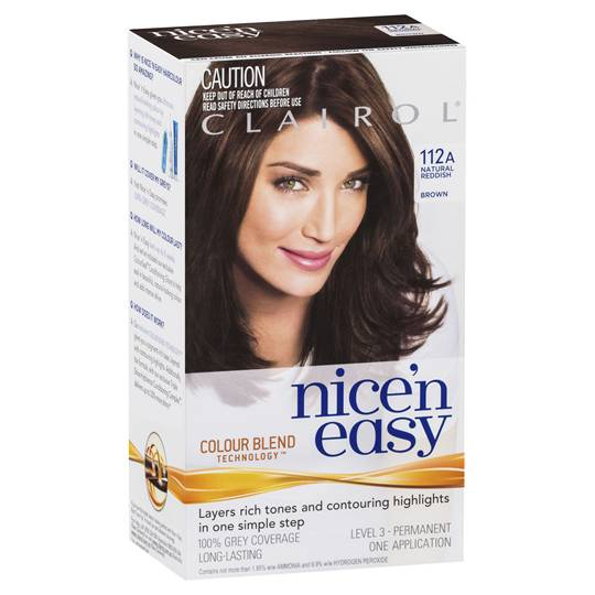 Clairol Nice N Easy 112a Natural Reddish Brown