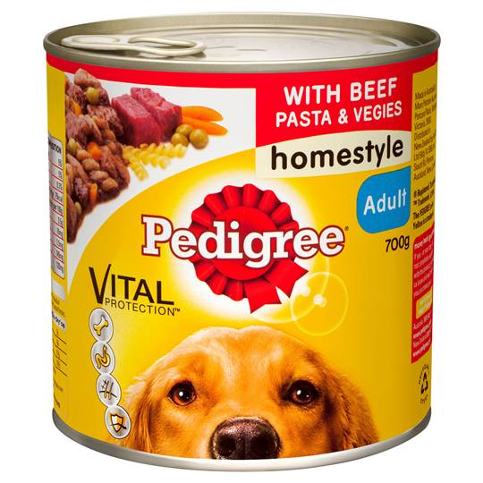Pedigree Adult Dog Food Homestyle With Beef Pasta & Vegies